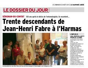 Jean Henri FABRE par Robert Rayne - 2008 - Naturoptère de Sérignan du Comtat, accompagné de 30 de ses descendants.